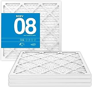 MervFilters 14x14x1 Air Filter , Merv 8, AC Furnace Air Filter , 4-Pack