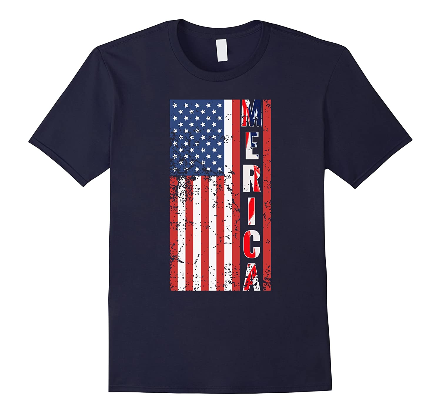 4th of July Flag T-Shirt - Merica Tee-PL