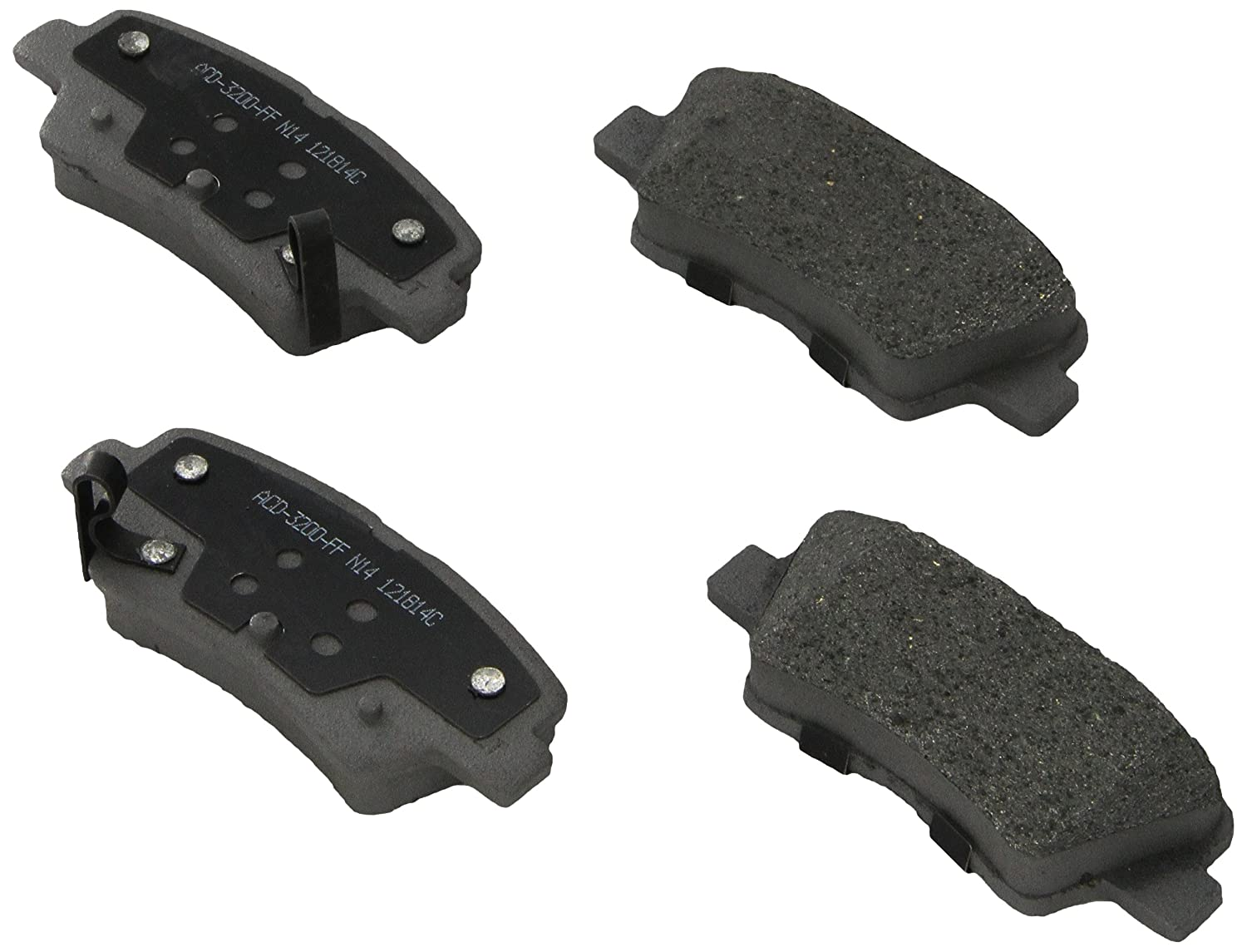 ACDelco 14D1544CH Advantage Ceramic Rear Disc Brake Pad Set
