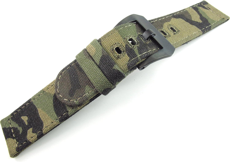 22mm Correa de Tela Camuflaje Banda Deportes ejército Pulsera Militares Reloj Partes