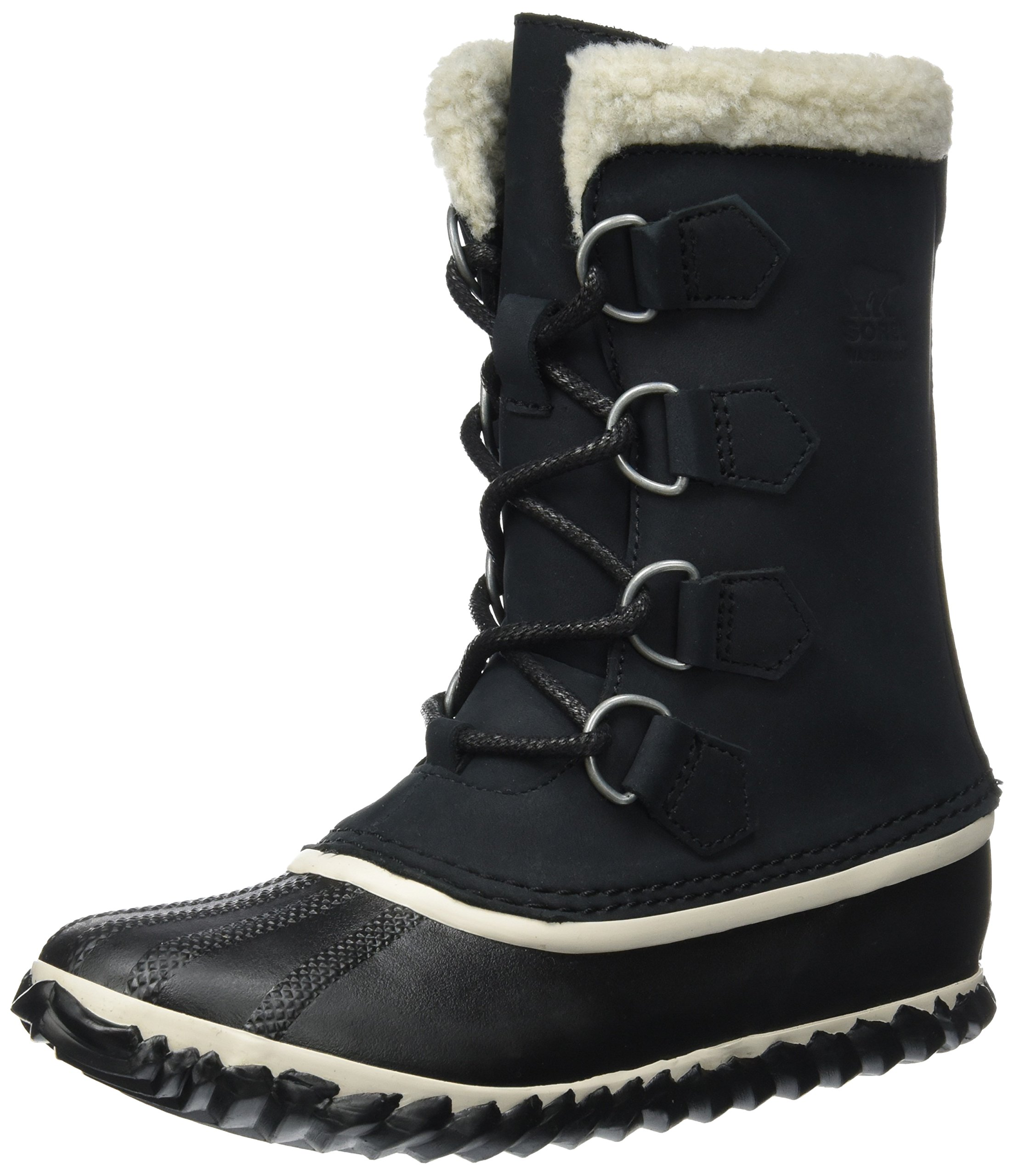 SOREL Women's Caribou Slim Boots, Black, 8 B(M) US