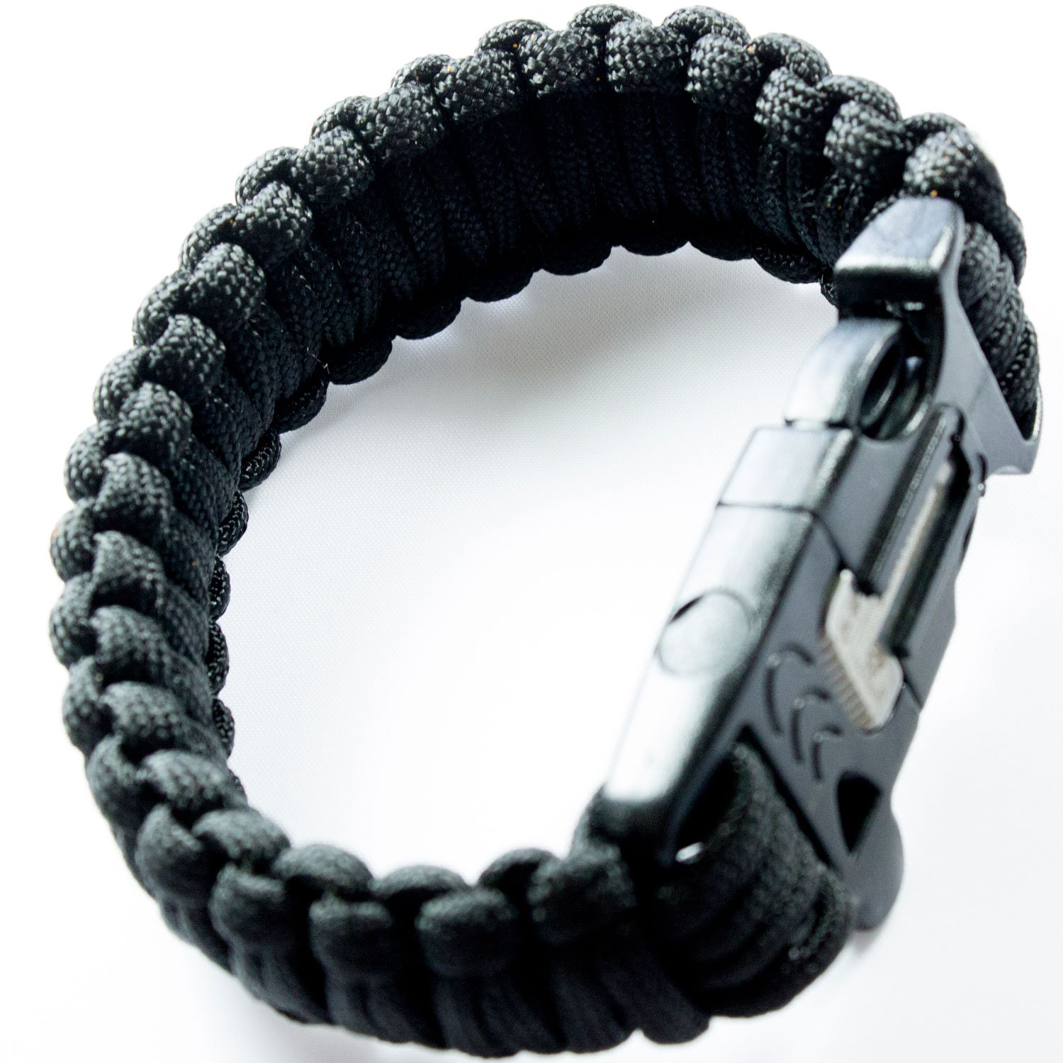 Best Black 550 Paracord Bracelet for Survival & Camping - Includes Built-in Emergency Whistle & Firestarter! & 100% Guaranteed!