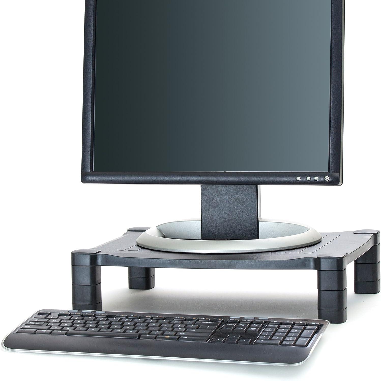 Mind Reader Adjustable Monitor Stand Riser for Computer, Laptop, Desk, iMac, Black