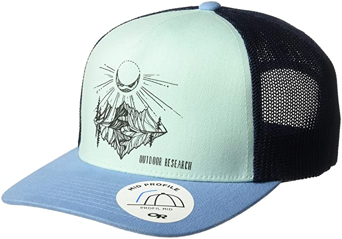 2b5f5f063a7 Outdoor Research Moonshine Trucker Hat, Hydrangea/Seaglass, 1size