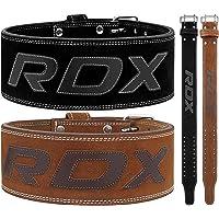 RDX drivrem för tyngdlyftning   godkänd av IPL och USPA   Dubbel tång gym träning läderbälte 10 mm tjock 4 ryggstöd…