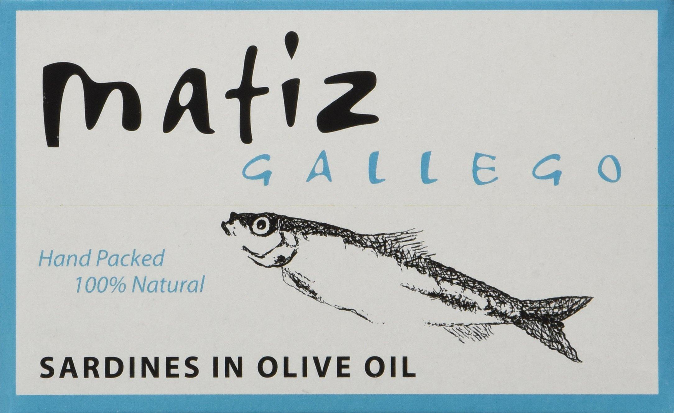 Matiz Gallego Sardines in Olive Oil, 4.2-Ounce Unit