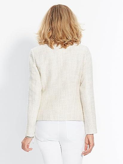 Balsamik - Chaqueta de traje - para mujer beige 36: Amazon ...