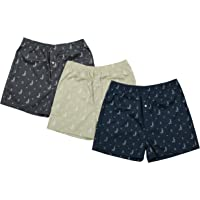 The Cotton Company Men's Cotton-Printed Boxer Shorts - Pack of 3