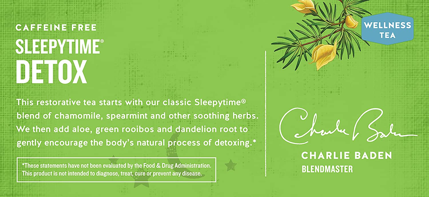 Celestial Seasonings Wellness té, Sleepytime Detox, 20 Count ...