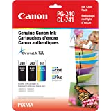 Canon Genuine PG-240 Twin CL-241 Ink Cartrige Club Pack, 2 Black and 1 Tri-Colour
