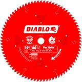 Freud D1280X Diablo 12-Inch 80 Tooth ATB Crosscutting Saw Blade with 1-Inch Arbor, One Size, Multi
