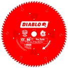 Freud D1280X Diablo 12-Inch 80 Tooth ATB Crosscutting Saw Blade with 1-Inch Arbor