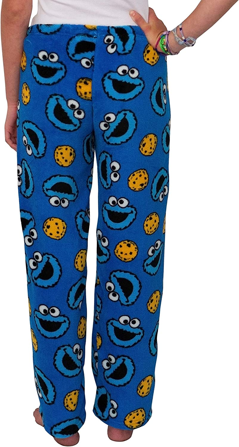 MJC Women's Cookie Monster Plush Fleece Pajama Pant at  Women's Clothing store