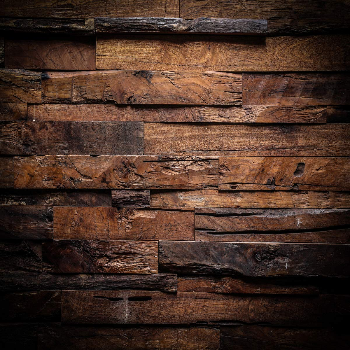 CYLYH 10x10ft Photography Backdrop Brown Wood 3D Backdrops for Picture Customized Vinyl Photo Background D104 by CYLYH (Image #1)