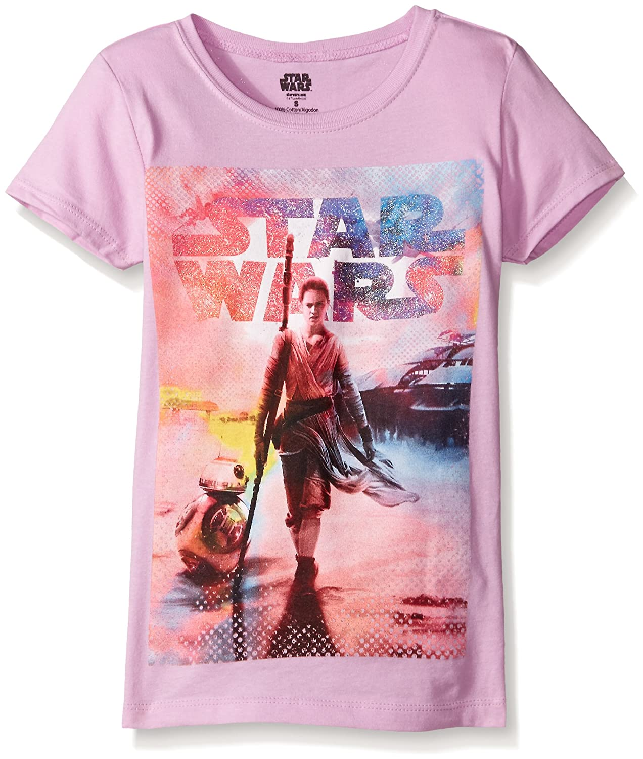 Star Wars Big Girls' The Force Awakens Episode 7 BB-8 Graphic Tee Freeze Children' s Apparel GYSS032-3s55