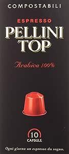 Pellini Caffè, Espresso Pellini Top 100% Arábica, Compatible Con Máquina Nespresso - 120 Cápsulas