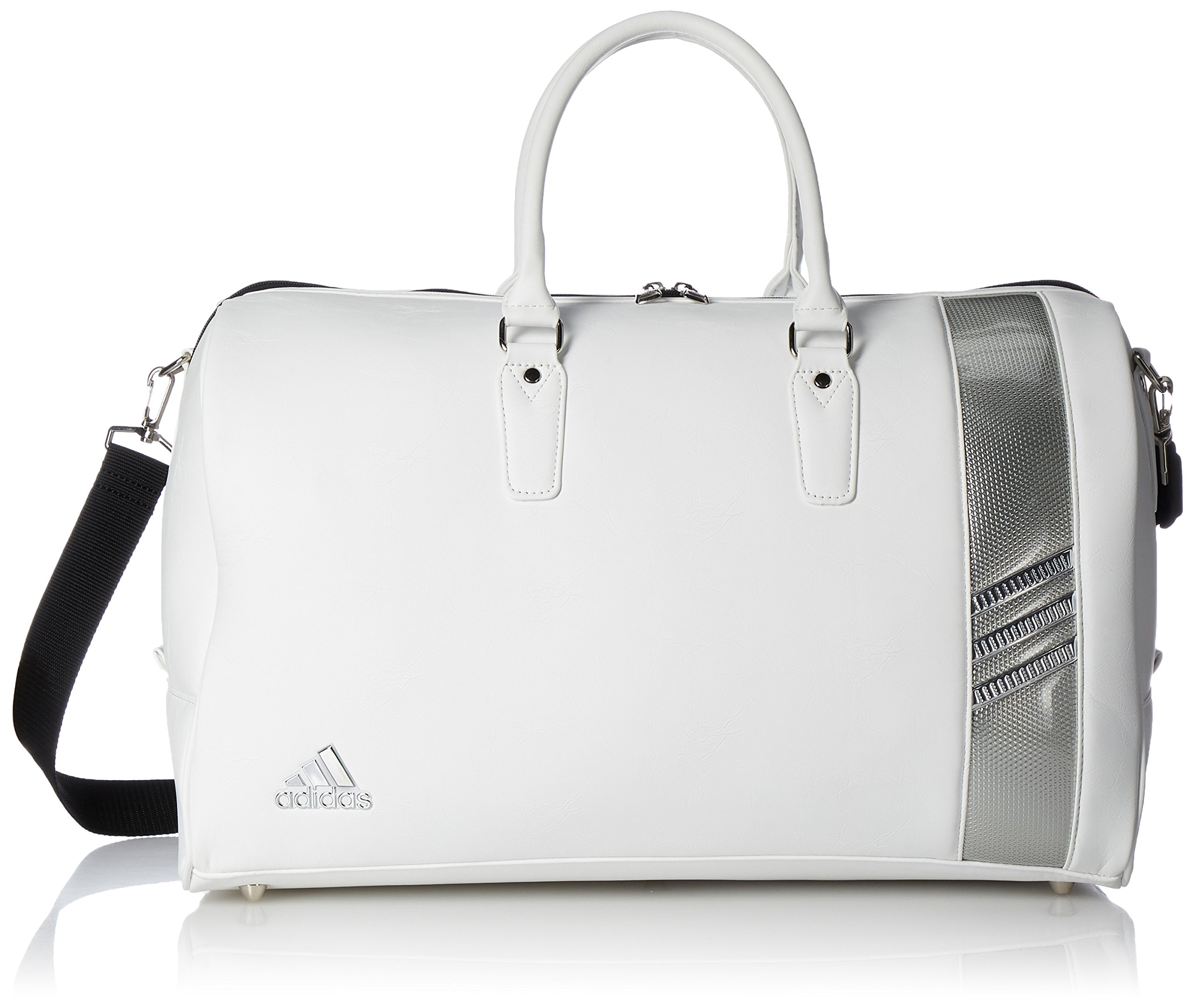 [Adidas Golf] Boston bag L50 × W24 × H 31 cm / with shoes in pocket / AWT 82 A92344 white / silver