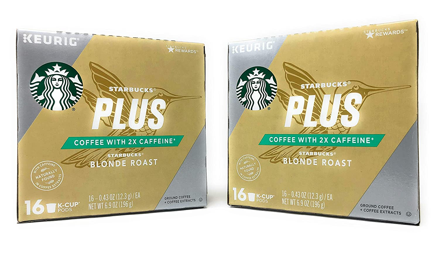 2763dae4810 Starbucks PLUS Coffee Blonde Roast K Cups - 32 K Cups Total - Coffee with 2x  the caffeine - Made With Arabica Coffee (Starbucks PLUS Blonde Roast, ...