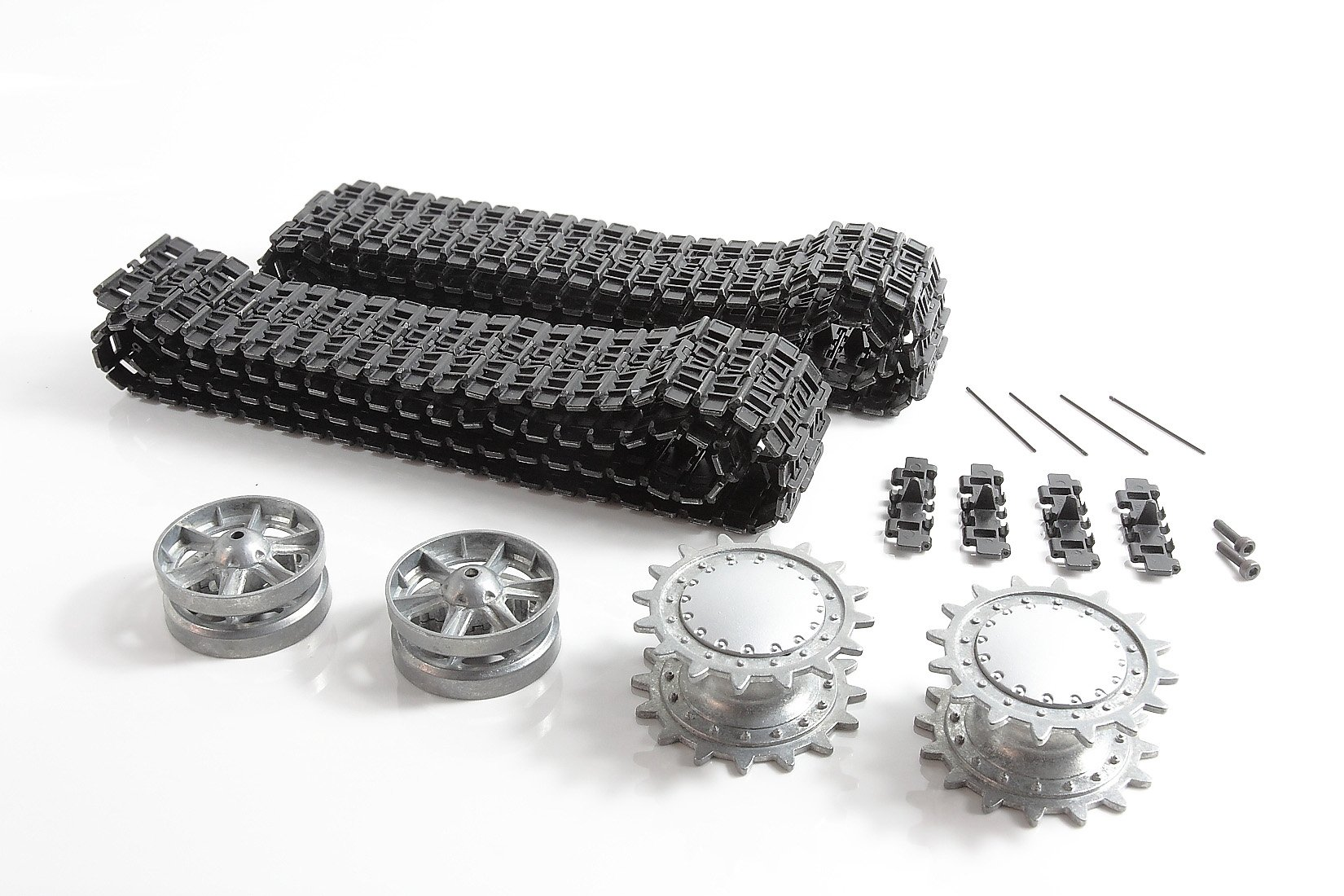 Mato Metal Upgraded Tracks Sprockets Idler Wheels With Bearing For Heng Long 3878-1 1/16 Scale Russian KV-1 RC Tank