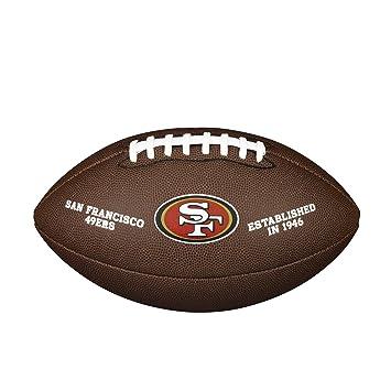 WILSON San Francisco 49ers - Balón de fútbol Oficial  Amazon.es ... fa5b5549319