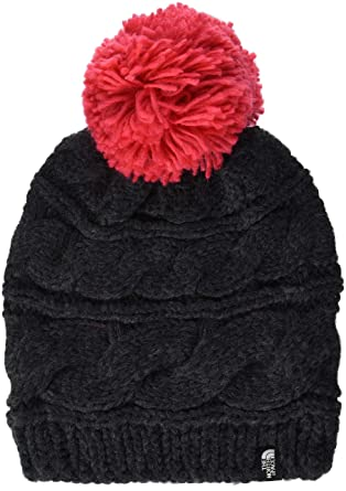 eeea0c8b855e5a The North Face Women's Triple Cable Beanie - TNF Dark Grey Heather &  Teaberry Pink - OS at Amazon Women's Clothing store: