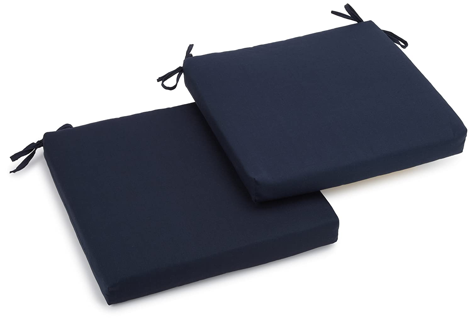 sneakers for cheap 9eb71 5caa6 Amazon.com   Blazing Needles Twill 19-Inch by 20-Inch by 3-1 2-Inch  Zippered Cushions, Navy Blue, Set of 2   Patio Furniture Cushions   Garden    Outdoor