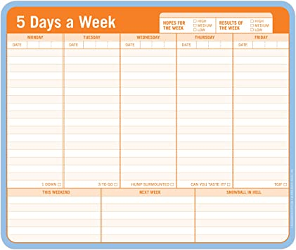 1X Weekly//Daily Planner Sticker Sticky Notes Memo Pad Schedule Check List JS