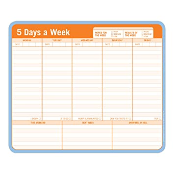 Amazon Com Knock Knock 5 Days A Week Paper Mousepad Books Office Products