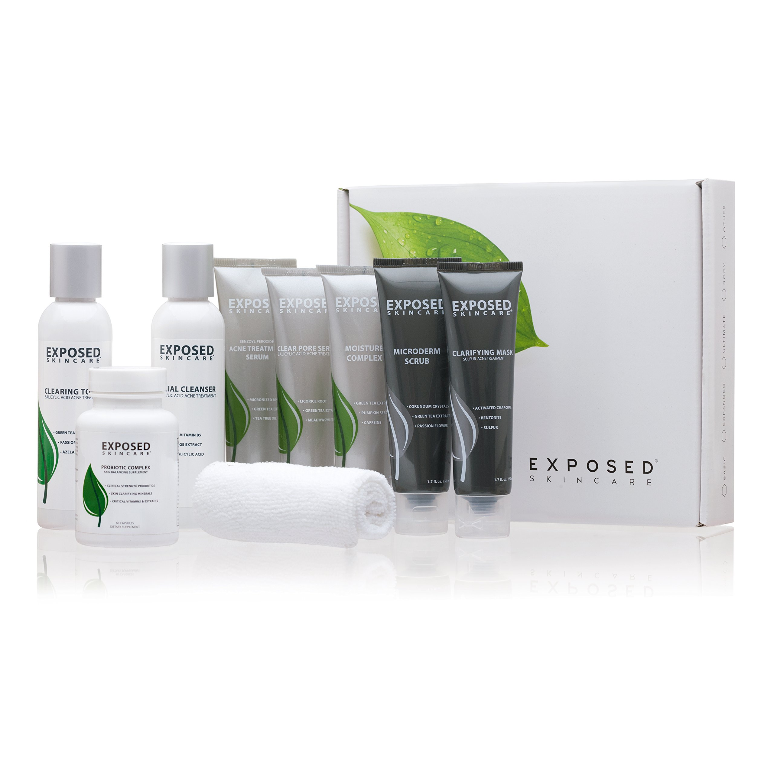 Exposed Skin Care Ultimate Acne Treatment Kit, 60 day supply, Includes All Our Products in one Treatment Kit.