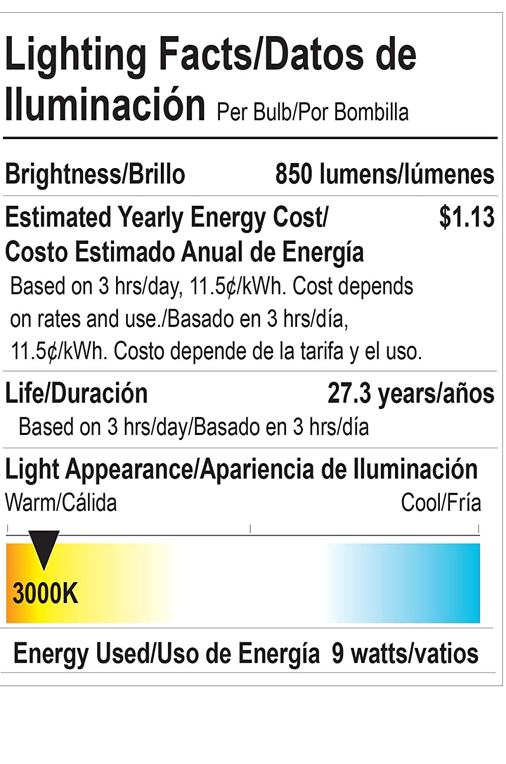 Goodlite G-83334 COB LED Dimmable 3000K 40-Degree Angle 9W 850 lm ...