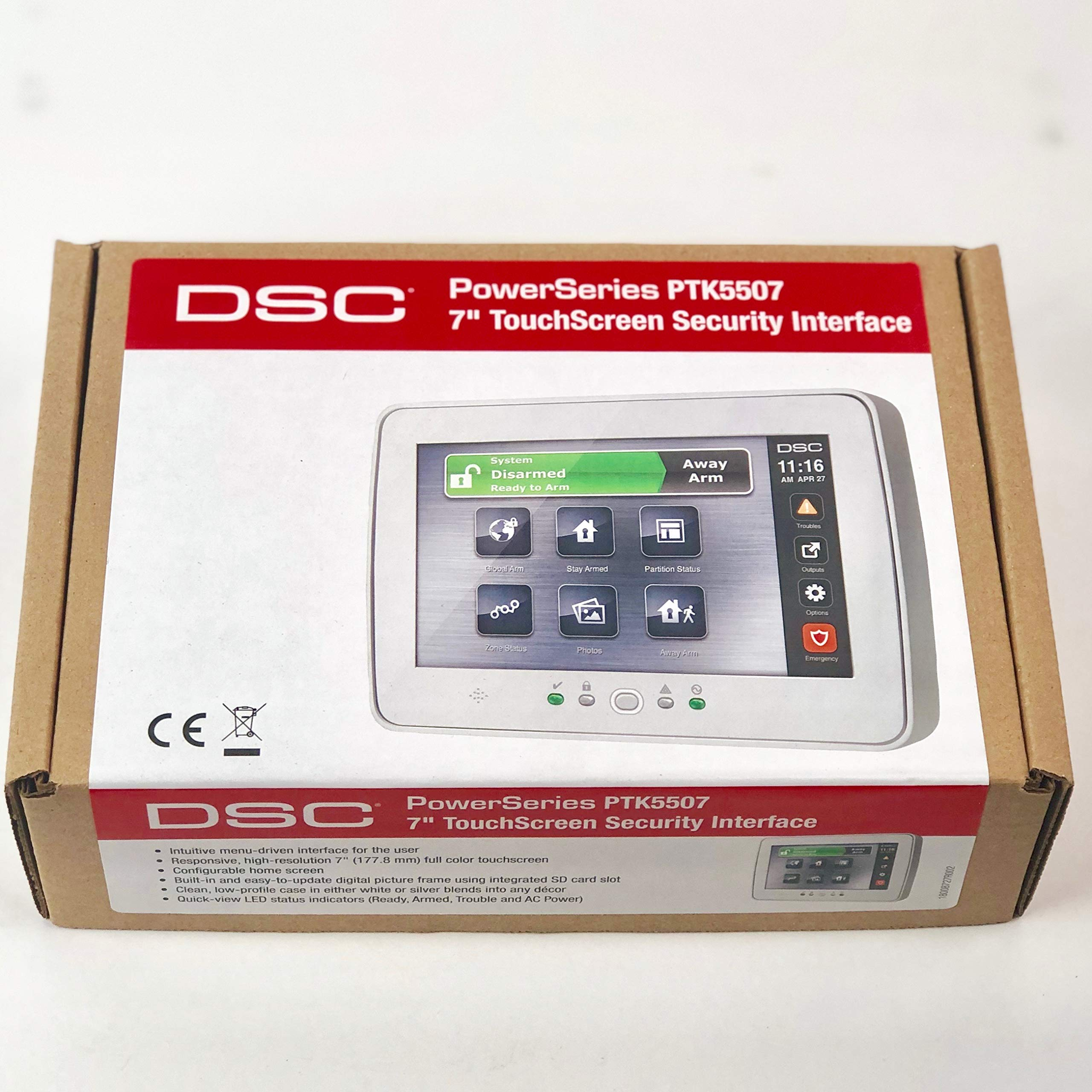 DSC PTK5507 PowerSeries TouchScreen Security Interface, 7 Inch display by DSC
