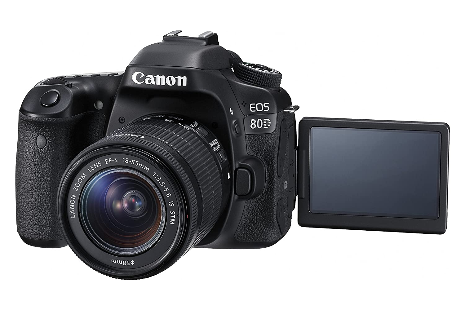 Canon Digital SLR Camera Body [EOS 80D] with EF-S 18-55mm f/3.5-5.6 Image Stabilization STM Lens with 24.2 Megapixel (APS-C) CMOS Sensor and Dual Pixel CMOS