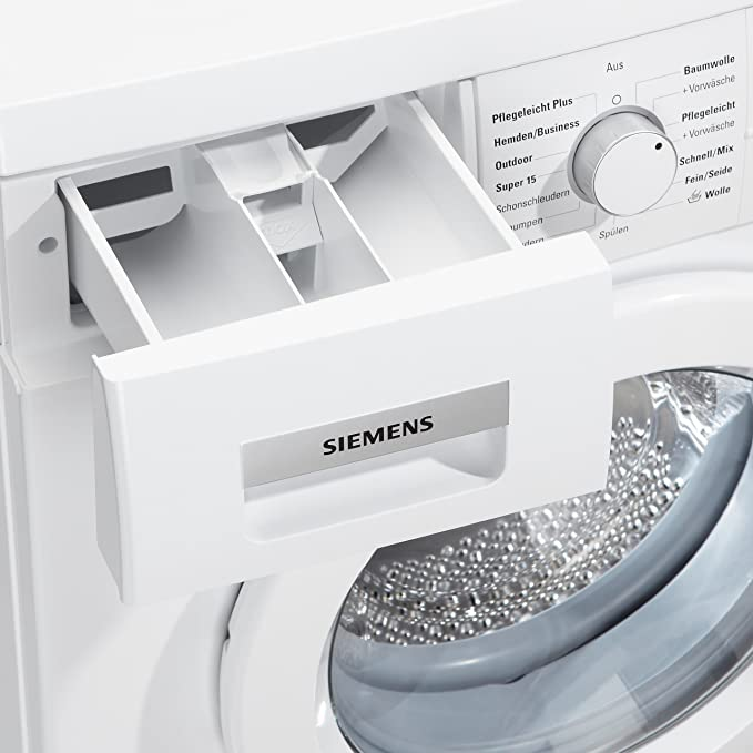 Siemens WM14E425 - Lavadora (Independiente, Color blanco, Frente ...