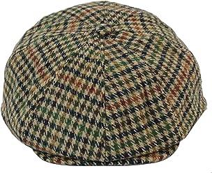 King Ice Tweed Newsboy Cap Peaky Blinders Baker Boy Flat Check Grandad Hat  Elasticated Free Size f9c421f39dfa