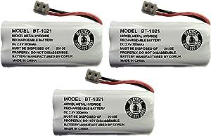 New Genuine OEM Uniden BT-1021 BBTG0798001 Cordless Handset Rechargeable Battery (3-Pack)
