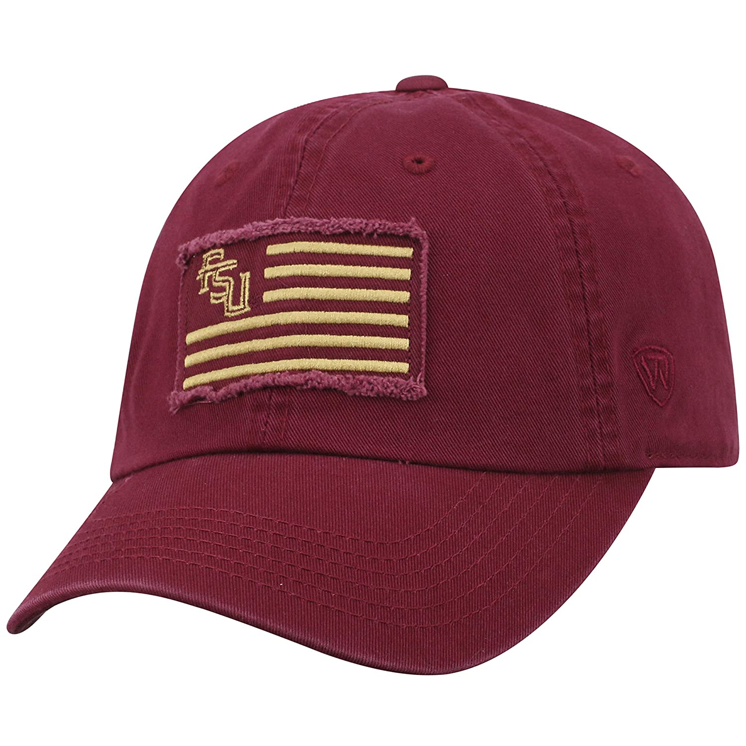 new concept b41e0 4c789 Amazon.com   Top of the World Florida State Seminoles Official NCAA  Adjustable Flag 4 Hat Cap Curved Bill 419183   Sports   Outdoors
