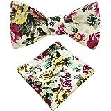 3457198bccee Amazon.com: JEMYGINS Original Teal Paisley Mens Bowtie Self Bow Tie ...