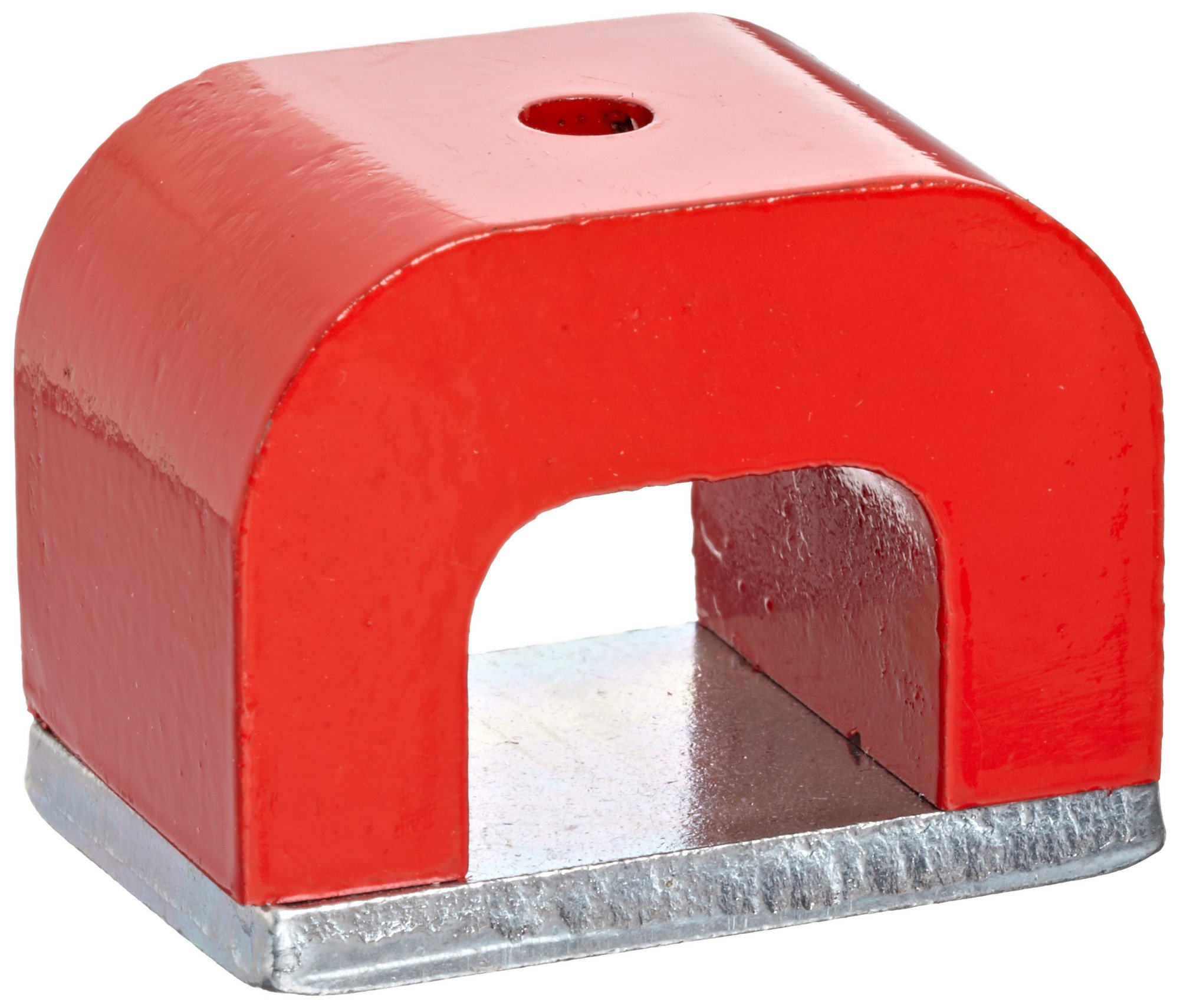Red Cast Alnico 5 Bridge Magnet With Keeper, 1.77'' Wide, 1.18'' high, 1.18'' Thick With 0.20'' hole on top (Pack of 1)