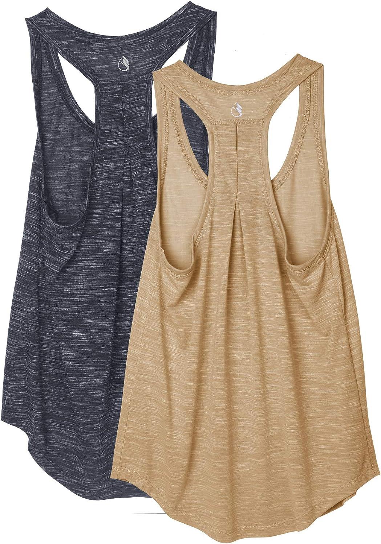 icyzone Camiseta sin Mangas de Yoga para Mujer Chaleco Deportivo ...