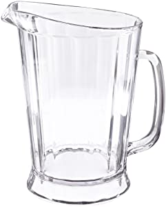 Rubbermaid Commercial FG333400CLR Bouncer II Pitcher, 60-Ounce