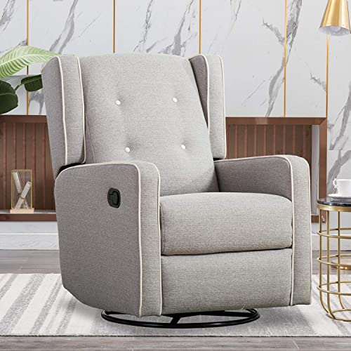Cheap CANMOV Swivel Rocker Recliner Chair living room chair for sale