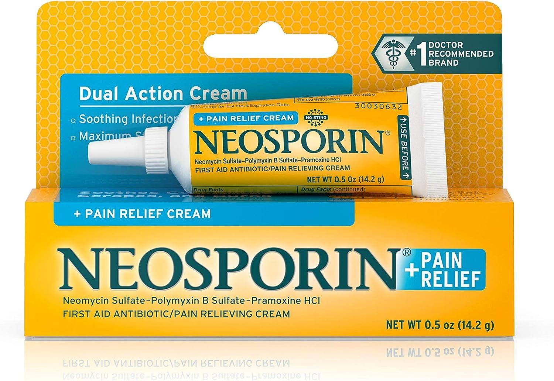Amazon.com: Neosporin +Pain Relf CRM Size .05z Neosporin +Pain ...