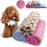Comsmart Puppy Blanket Warm Dog Cat Coral Velvet Blankets Bed Mat Cover with Star Print Soft Pet Blanket for Puppies Kitties and Other Small Animals (23Lx16W)