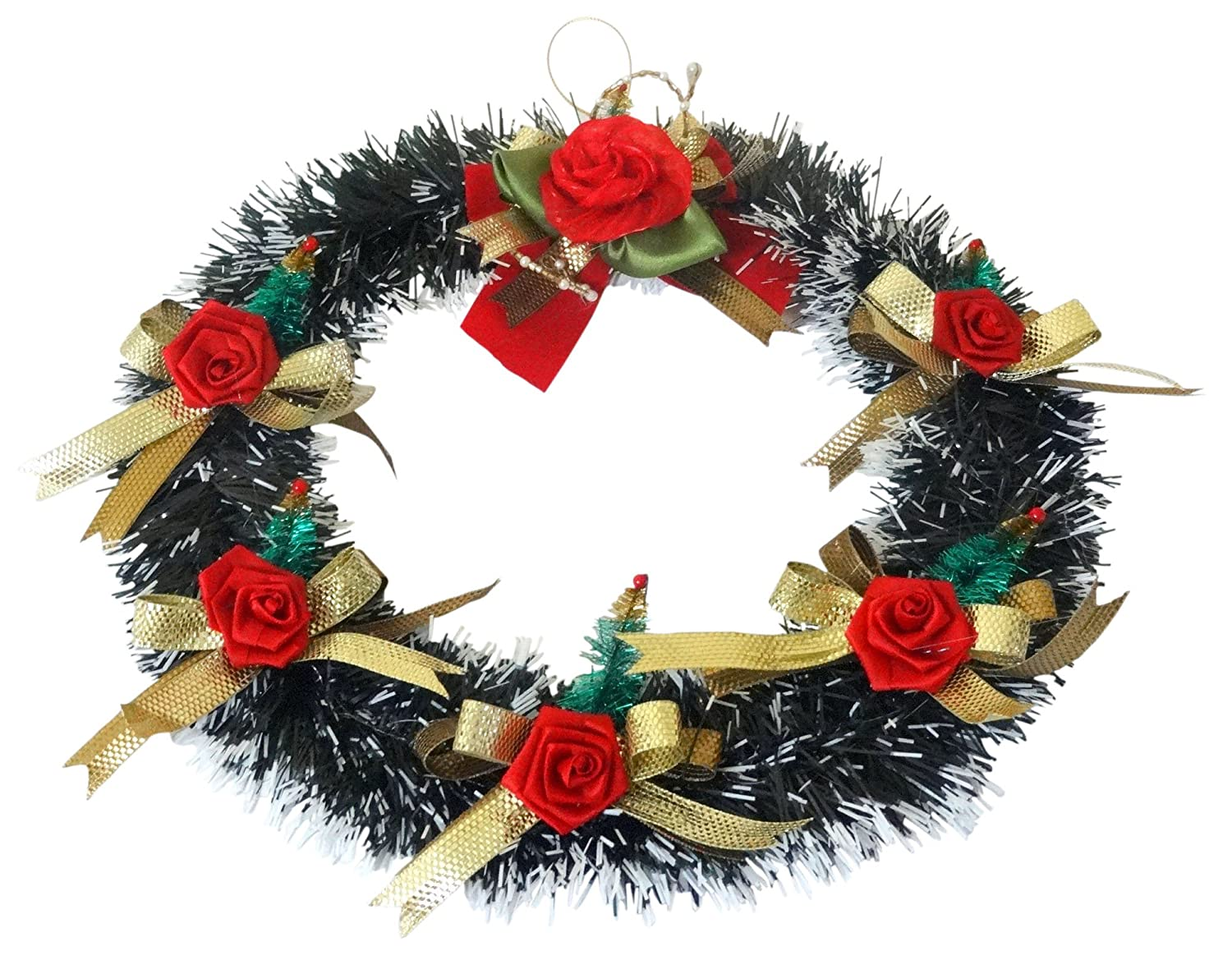 Buy Decorika Christmas Wreath, Green (38 * 38 cms) Online at Low ...