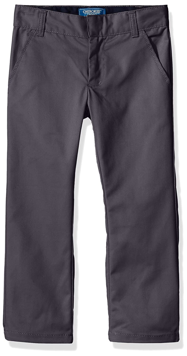 CHEROKEE Boys' Uniform Classic Fit Twill Pant with Adjustable Waist CHEROKEE girls 47P2858