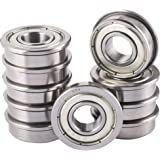 """XiKe 10 Pack FR4ZZ Bearings 1/4"""" x 5/8"""" x 10/51"""", Double Shield and Pre-Lubricated & Stable Performance and Cost-Effective, Deep Groove Ball Bearings."""