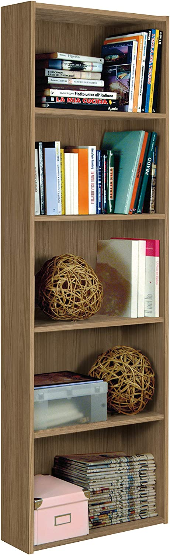 55x21 175H. InHouse srls Libreria Moderna in Legno Bianca 5 Vani