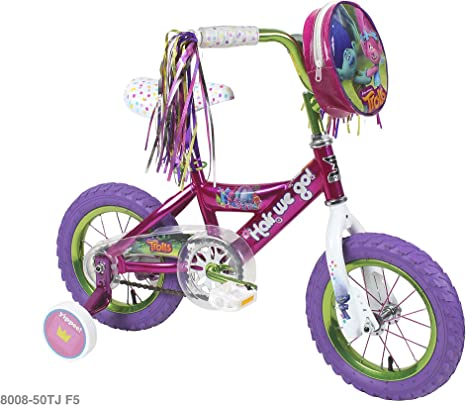 TROLLS Bicicleta de niña de 12 Pulgadas: Amazon.es: Deportes y ...