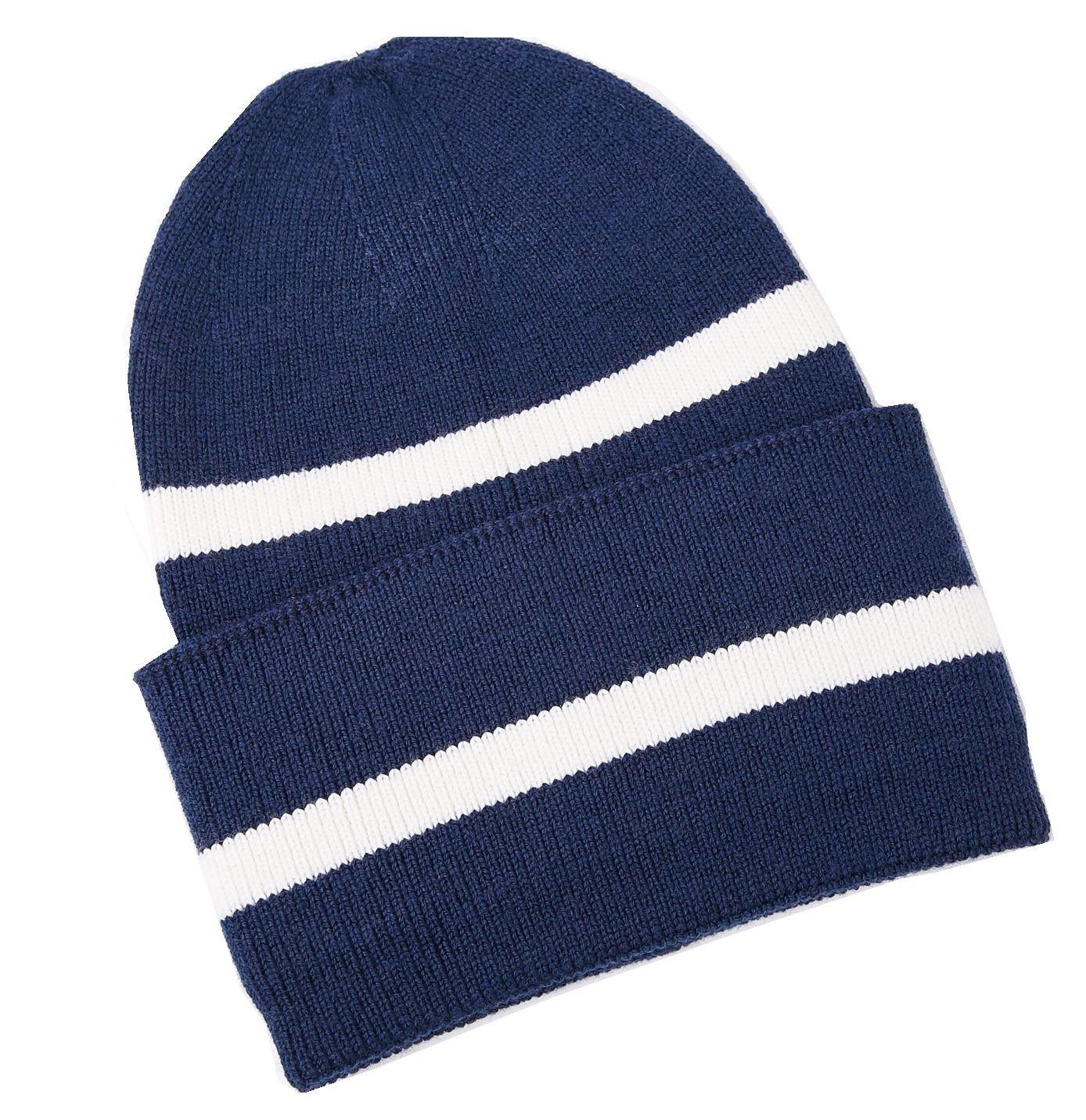 KUMONE Men Beanie Hat - Winter Cashmere Knitting Skull Cap, Navy