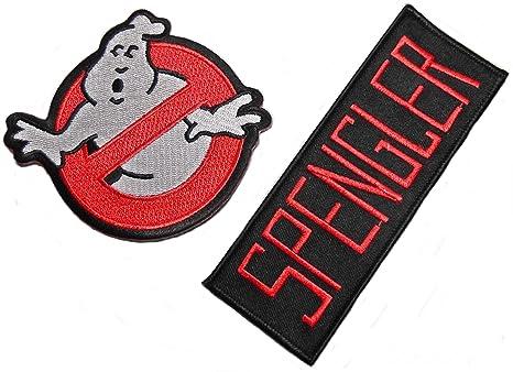 Calle Principal 24/7 Ghostbusters Logo & Nombre de Spengler – Juego de 2 parches